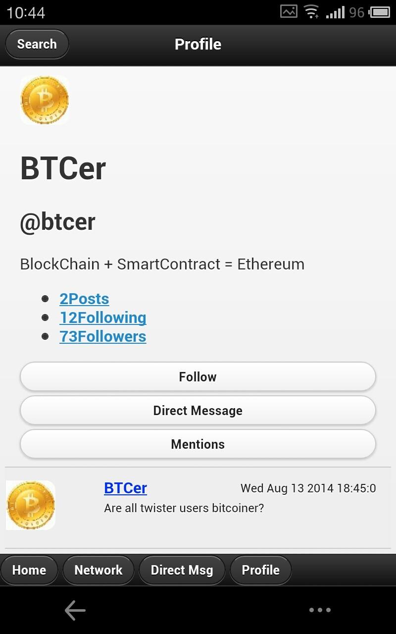 twister:去中心化的微博